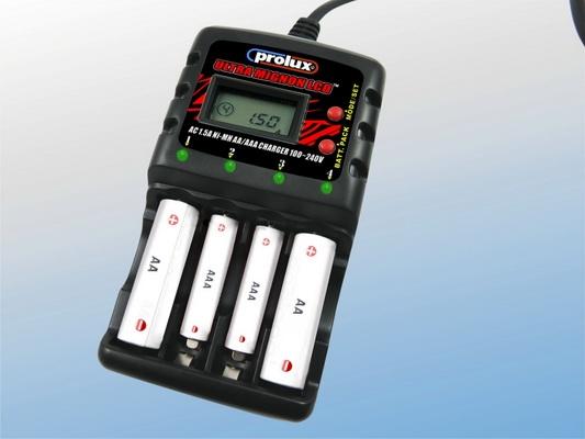 AC 1.5A Ni-MH AA/AAA CHARGER w/LCD+USB 100-240V
