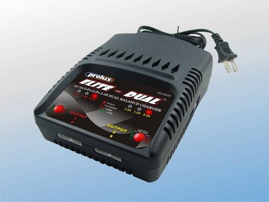 AC 2A 2-3S LiPo/LiFe DUAL BALANCE CHARGER
