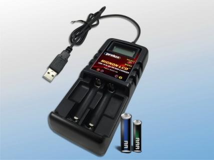 USB 1A Ni-MH AA/AAA CHARGER w/LCD
