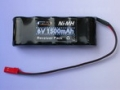 6.0V 2/3A 1500mAH Ni-MH BATTERY PACK (FLAT STYLE)